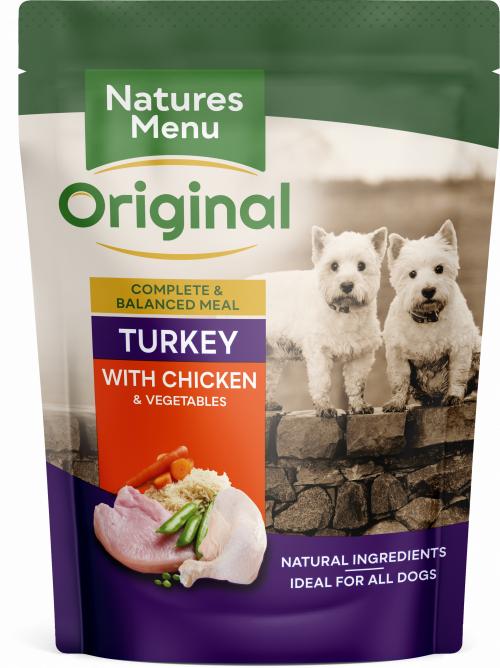 Natures Menu Turkey with Chicken Dog Food Pouch